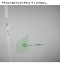 Yolo | More 👉 @miinute: what an appropriate name for a cemetery  Yolo Cemetery Yolo | More 👉 @miinute