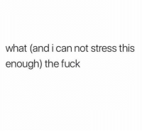 Funny, Fuck, and Stress: what (and i can not stress this  enough) the fuck Mantra. https://t.co/MfZehfpFZT