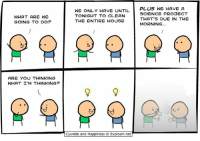 By Kris. Tag your most efficient friend!⠀ ⠀ Have you dug into www.explosm.net recently? Please, treat yourself!: WHAT ARE WE  GOING TO DO?  ARE YOU THINKING  WHAT I'M THINKING?  WE ONLY HAVE UNTIL  PLUS WE HAVE A  SCIENCE PROBECT  TONIGHT TO CLEAN  THAT'S DUE IN THE  THE ENTIRE HOUSE  MORNING...  Cyanide and Happiness  Explosm.net By Kris. Tag your most efficient friend!⠀ ⠀ Have you dug into www.explosm.net recently? Please, treat yourself!
