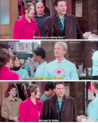 Memes, Satan, and 🤖: What are you doing here?  scenesofhimym  AY H  Qi,just the Lord'swork.  But you're Satan. #HIMYM https://t.co/zPhzFZdwZa