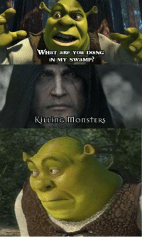 What Are You Doing In My Swamp: WHaT aRe You DOING  IN MY SwaMP!  KİLLindmonstERS