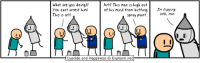 Cyanide and Happiness, Http, and Paint: What are you doingl?  You cant arrest him!  This is art!  Art? This man is high out  of his mind fr。η huffing  spray paint  I'm tripping  balls, man.  Cyanide and Happiness © Explosm.net- http://t.co/rb2LsdQY8d