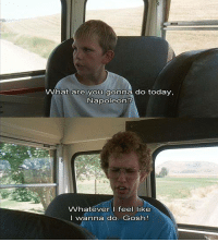 Memes, Napoleon Dynamite, and Today: What are you gonna do today,  Napoleon?  Whatever I feel like  I wanna do. Gosh! Napoleon Dynamite