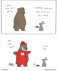 Wow Christmas break is only 2 weeks away: what  are  you  in  do  Ho  HO  HO  liz. climo  O Santa  putting cookies  and milk out  for Santa  nice  try  lizc limo. tumblr.com Wow Christmas break is only 2 weeks away