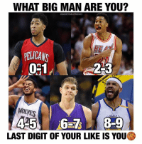 | Who are you? 🤔 Like to find out and Comment Below 👇🏼 Follow @basketballstudios for more Tags: NBA basketball AD Heat Miami Wolves Lakers La LALakers GSW Warriors Nike Jordan Adidas Ball minnesota NewOrleans Heat GoldenState Bball: WHAT BIG MAN ARE YOU?  BASKETBALLSTUDIOS  HE  PELICAN  2-3  WOLVES  LAST DIGIT OF YOUR LIKE IS YOU | Who are you? 🤔 Like to find out and Comment Below 👇🏼 Follow @basketballstudios for more Tags: NBA basketball AD Heat Miami Wolves Lakers La LALakers GSW Warriors Nike Jordan Adidas Ball minnesota NewOrleans Heat GoldenState Bball