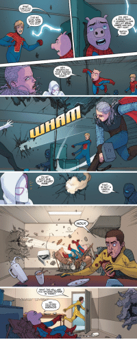 "<p><a href=""http://why-i-love-comics.tumblr.com/post/174290234331/spider-verse-5-2015-written-by-mike-costa-art"" class=""tumblr_blog"">why-i-love-comics</a>:</p>  <blockquote><p><b>Spider-Verse #5 (2015)</b></p><blockquote><p>written by Mike Costa<br/>art by Andre Lime Araujo &amp; Rachelle Rosenberg</p></blockquote></blockquote>  <p>No one's going to say? All right I will</p><p>Spider-Pig</p><p>Spider-Pig</p><p>Does whatever a Spider-Pig does</p>: WHAT  CAN I DO.  COACH?  I'VE NO  CLUE, HAM  WHAT CAN  YOU DO?  OH, HEY!  A WHILE BACK  I LEARNED I CAN  GET HIT REAL  HARD AND NOT  GET HURT  WATCH  THIS!  HEY!  BRUNHILDA!  YOUR MAMMA  WAS A FROST  GIANT!   ㄇ  C)   OH MY  GODI SHE  JUST KILLED  HAM!  THAT..  IS NOT A  USEFUL  SKILL.   HOLY!   WHAT THE HELL ARE  YOU SPIDERS DOING  IN THERE?  HEY  YOU GONNA  FINISH THIS  SANDWICH? <p><a href=""http://why-i-love-comics.tumblr.com/post/174290234331/spider-verse-5-2015-written-by-mike-costa-art"" class=""tumblr_blog"">why-i-love-comics</a>:</p>  <blockquote><p><b>Spider-Verse #5 (2015)</b></p><blockquote><p>written by Mike Costa<br/>art by Andre Lime Araujo &amp; Rachelle Rosenberg</p></blockquote></blockquote>  <p>No one's going to say? All right I will</p><p>Spider-Pig</p><p>Spider-Pig</p><p>Does whatever a Spider-Pig does</p>"