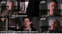 Kevin Love, Nba, and Nationals: WHAT CAN I DO FOR YOUP  @NBAMEMES  WEWOULD LIKE TRADE CARMELO ANTHONY FOR KEVIN LOVE Thanks but no thanks... #Cavs Nation #Knicks Nation  Credit: Rob Pluchino