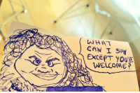 Love, Memes, and Breakfast: WHAT  CAN SAI  EXCEPT YOUR  WELCOME Love to Eggbreak, my favorite breakfast spot, who drew this on my check on my first day. https://t.co/YZruRP65Yh