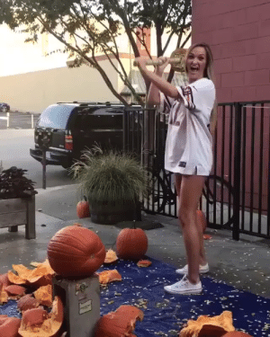 What could go wrong trying to smash a pumpkin?: What could go wrong trying to smash a pumpkin?