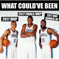 What could've been.. crazy (@cbssports): WHAT COULD'VE BEEN  2017 FINALS MVP  RUNNER-UP  2017 MVP  el What could've been.. crazy (@cbssports)