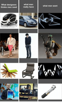 Designers know nothing... http://goo.gl/UhnjXQ: What designers  thinks men need  what men  really have  what men want Designers know nothing... http://goo.gl/UhnjXQ