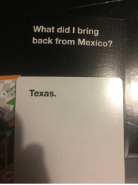 Happy 4th!: What did I bring  back from Mexico?  Texas. Happy 4th!