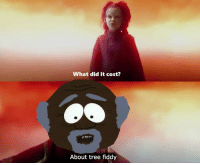 What did it cost?: What did it cost?  About tree fiddy What did it cost?