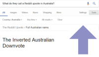 Australian: What do they call a Reddit upvote in Australia?  All Images Videos News ShoppingMore  Country: AustraliaAny timeAll resultsClear  The Reddit Upvote / Full Australian name  SettingsTools  The Inverted Australian  Downvote