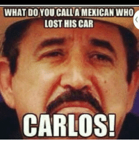 WHAT DO YOU CALLA MEXICAN WHO  LOST HIS CAR  CARLOS!