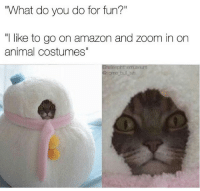 "Amazon, Memes, and Zoom: ""What do you do for fun?""  like to go on amazon and zoom in on  animal costumes""  Gasleepinthemuseum  some bullish what even is this costume? 😹@some_bull_ish"
