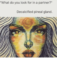 Detoxification of the pineal gland (Link In Bio) The Pineal gland is heavily calcified in many by the time they are 17 years old, mainly due to the consumption of contaminated, genetically modified foods, harmful processed sugars, alcohol, acidic thought processes and fluoridated water. It appears as a mass of calcium during an MRI scan. Calcification is the build-up of calcium phosphate crystals in various parts of the body, an absolute enemy to consciousness. Avoid all things fluoride, such as: tap water, (including cooking with tap water and showering without a filter), fluoridated toothpaste, inorganic fruits and vegetables, red meat and any other artificial foods or drinks. It can be difficult to maintain a strict supply of purely organic fruit and vegetables in your diet, but it is important to start from where you are and begin to make changes where they become possible. Pineal gland detoxifiers and stimulants: Wheatgrass, Chlorella, Spirulina, blue-green algae, Iodine, Zeolite, ginseng, borax, Bentonite clay, chlorophyll-dense foods and blue skate liver oil (derived from fish). More information in chapter 3. Natural foods: Raw cacao, goji berries, cilantro, watermelon, bananas, honey, coconut oil, hemp seeds, seaweed and noni juice. Stop eating white sugar completely. Juice fasting and urine therapy are most effective. The body chapter delves deeper into detoxification and foods, heavy-metal detox and colon detox. Ayahuasca and Ibogaine also awaken the pineal. Essentials oils can be used to help stimulate the pineal gland and facilitate states of spiritual awareness, meditation and astral projection. Particularly effective oils include: lavender, sandalwood, frankincense, parsley, davana, pine and pink lotus. Raw apple cider vinegar: (Contains malic acid. Make sure it's raw, as that is very important. Braggs is the best brand.) You can fill a glass bottle with ionised alkaline water, eight tablespoons of Bragg's Apple Cider Vinegar and 2 tablespoons of raw, 