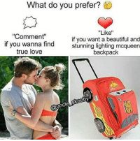 """Memes, Backpacking, and 🤖: What do you prefer?  """"Like""""  """"Comment""""  if you want a beautiful and  if you wanna find  stunning lighting mcqueen  true love  backpack  skooby  @uncle Catch speedin at school shittin in these niggas😎😎💁😪👋 . . Oc by @uncle_skooby lightningmcqueen kachow kerchirga commentfor likefor"""