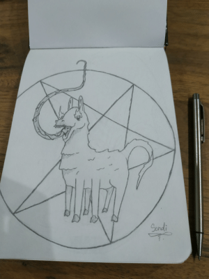 What do you think about my possessed Llama?: What do you think about my possessed Llama?