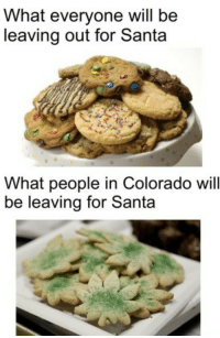 Colorado, Santa, and Will: What everyone will be  leaving out for Santa  What people in Colorado will  be leaving for Santa