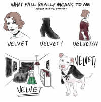 Velvet season! (By @andreaghickey): WHAT FAL REALLY MEANS TO ME  ANDREA HICKEY/ BUZ2FE6D  VELVET VELVET VELVET!!!  NELWET Velvet season! (By @andreaghickey)