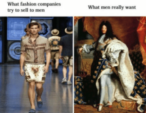 Fashion, True, and Tumblr: What fashion companies  try to sell to men  What men really want awesomacious:  True dat