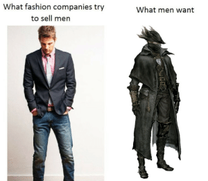 Fashion, Tumblr, and Blog: What fashion companies try  What men want  to sell men baxernasty:  joederartist:  You're right.