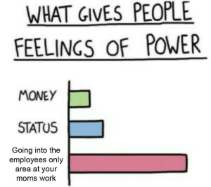 It's almost Christmas! by Pentagonal_Muffin MORE MEMES: WHAT GIVES PEOPLE  FEELINGS OF POWER  MONEY  STATUS  Going into the  employees only  area at your  moms work It's almost Christmas! by Pentagonal_Muffin MORE MEMES