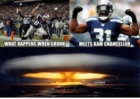Nfl, Epic, and What: WHAT HAPPENS WHEN GRONK  MEETS KAM CHANCELLOR T-2 Days for this epic matchup! #SB49