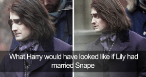 126 Harry Potter Tumblr Posts That Are Impossible Not To Laugh At If ...: What Hary would have looked like if Lily had  married Snape 126 Harry Potter Tumblr Posts That Are Impossible Not To Laugh At If ...