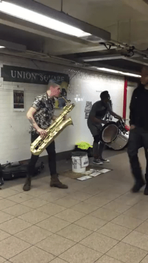 """Anime, Club, and Dubstep: what-hath-science-wrought:  pomp-adourable:  tlaxxcalteca:  amuseoffirebane:  Reblogging this again because I found info! This is 2/3 of a band called Too Many Zooz (they're lacking their trumpeter here), the song is called'Flightning,' and the genre is""""brass house"""" (which i think they made up but hey i dig it). They have a handful of songs on Spotify and just successfully Kickstarted their first full-length album.  this song as the opening to a new anime by Shinichiro Watanabe honestly  These guys are CHARACTERS for a Watanabe anime.  I seriously love these guys, because they're so interesting from a music-theory perspective. Their use of intense beats, syncopation, deep bass, and blaring harmonics borrows a lot from modern club music they're basically playing dubstep on traditional instruments. Seriously, listen to some tracks with all three of them together, and tell me that's not what they're doing"""
