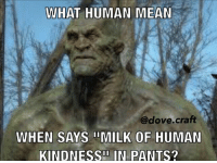 You guys like dirty memes? I do! Fallout4 fallout wackyfallout Dankmemes: WHAT HUMAN MEAN  @dove craft  WHEN SAYS IIMILK OF HUMAN  KINDNESSII IN PANTS? You guys like dirty memes? I do! Fallout4 fallout wackyfallout Dankmemes