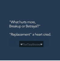 "Crying, Memes, and Heart: ""What hurts more,  Breakup or Betrayal?""  Replacement"" a heart cried  The TinyStories"