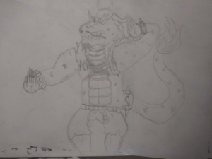 What I imagine kaido's hybrid form to look like (a low quality doodle): What I imagine kaido's hybrid form to look like (a low quality doodle)