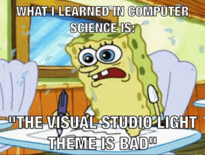"Bad, Computer, and Science: WHAT I LEARNED""İNCOMPUTER  SCIENCES  ITHE VISUAL STUDI2LIGHT  THEMEIS BAD What I learned in computer science is"