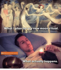 Black, Moon, and Candles: What I plan fo  new moon ritual.  What actually happens. New moon ritual with black tourmaline and candles #magick