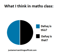 Math: What I think in maths class:  Dafuq is  this?  Dafuq is  that?  justamericanthingsofficial.com