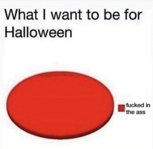 Ass, Halloween, and What: What I want to be for  Halloween  fucked in  the ass Me🍑irl