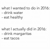 Gym, The Link, and Box: what I wanted to do in 2016  drink water  eat healthy  what actually did in 2016:  drink margaritas  eat tacos 😂😭 . @DOYOUEVEN - 70% OFF BOXING DAY SALE! 🎉 click the link in our BIO ✔️