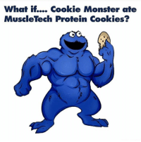 Cookie Beast 💪😎 @livingfittips ⏪⏪⏪: What if.... Cookie Monster ate  MuscleTech Protein Cookies3 Cookie Beast 💪😎 @livingfittips ⏪⏪⏪