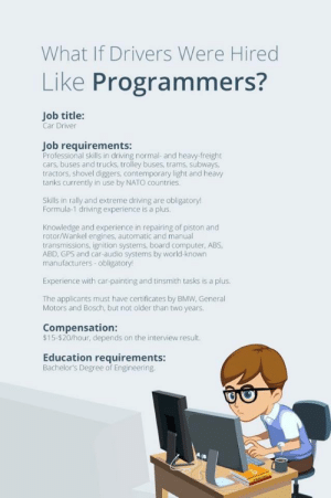 What if drivers were hired like programmers?: What if drivers were hired like programmers?