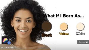 Ah yes, the three races: black, yellow, and white: What If I Born As...  White  Yellow  Biack  Skip ad  Ad 2 of 2 0:08 O Ah yes, the three races: black, yellow, and white