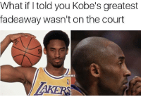 Kobe Bryant, Nba, and Kobe: What if l told you Kobe's greatest  fadeaway wasn't on the court  MES  AKERS 30 for 30: Afro to No Fro, The Kobe Bryant Story. #LakeShow