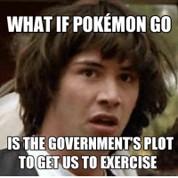 You Can Never Be Too Careful: WHAT IF POKEMON GO  IS THE GOVERNMENTS PLOT  TOGET US TO EXERCISE You Can Never Be Too Careful