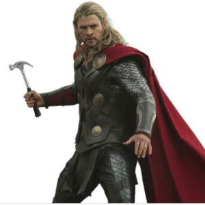 Thor, Hammer, and What: What if Thor had regular hammer.
