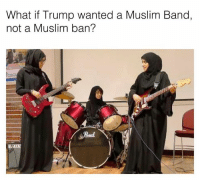 🤔🤔: What if Trump wanted a Muslim Band,  not a Muslim ban? 🤔🤔