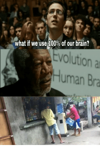 Anaconda, Memes, and Brain: what if we use 100% of our brain?  Evolution a  Human Bra I only use the whole 10% for memes