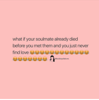 Girl Memes, Never, and Them: what if your soulmate already died  before you met them and you just never  @fuckboysfailures