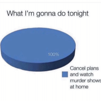 Anaconda, Funny, and Home: What I'm gonna do tonight  100%  Cancel plans  and watch  murder shows  at home