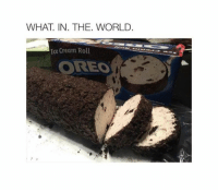 WHAT IN. THE. WORLD  Ice Cream Roll  OREO Mother of god...